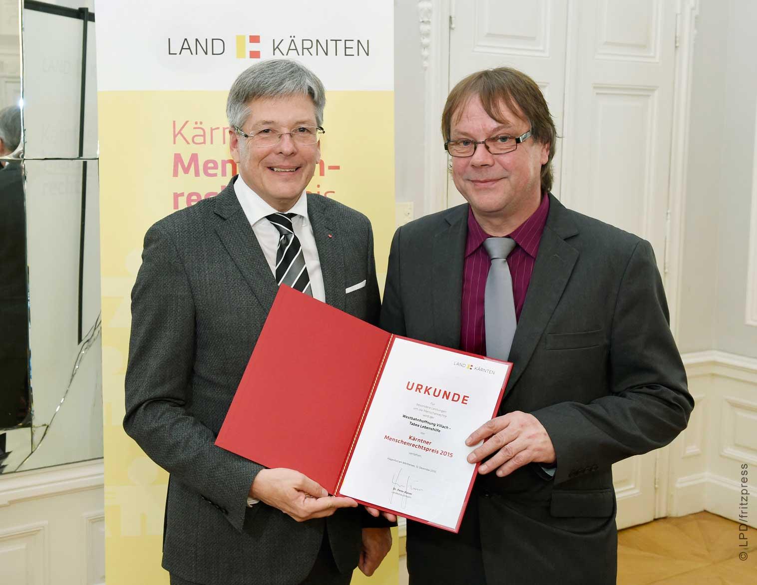 Kärntner Menschenrechtspreis gewonnen